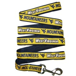 West Virginia Mountaineers NCAA nylon dog leash
