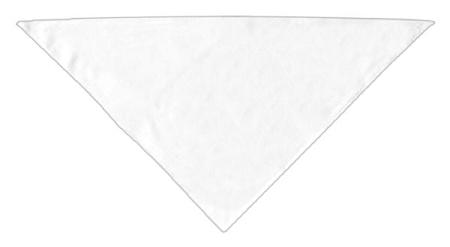 White plain dog bandana