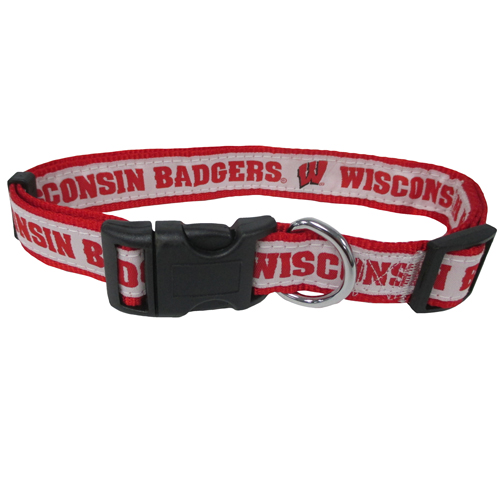 Wisconsin Badgers NCAA Nylon Dog Collar