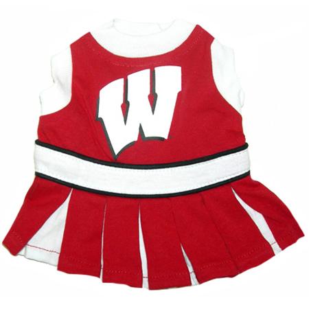 Wisconsin Badgers NCAA dog cheerleader dress