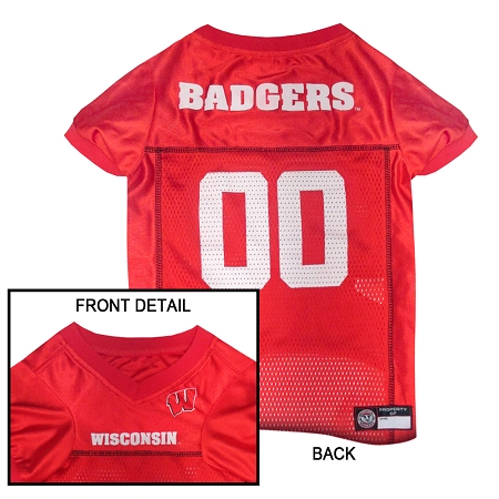 Wisconsin Badgers NCAA dog jersey