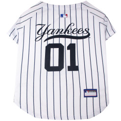 Yankees MLB dog jersey back
