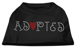 adopted rhinestone sleeveless dog t-shirt baby black