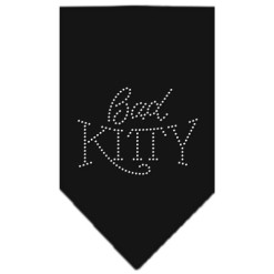 bad kitty dog bandana black