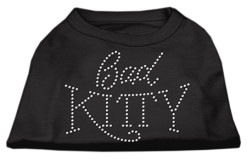 bad kitty rhinestone sleeveless dog t-shirt black
