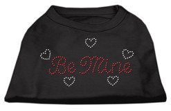 be mine hearts rhinestone sleeveless dog t-shirt black