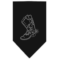 cowgirl boots rhinestone dog bandana black