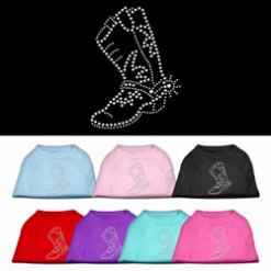 cowgirl boots rhinestone sleeveless dog t-shirt colors