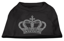 crown rhinestones dog t-shirt black