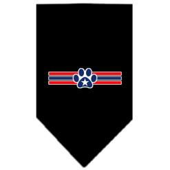 dog paw USA stripes patriotic bandana