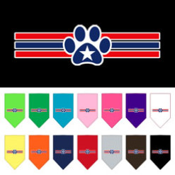 dog paw USA stripes patriotic bandanas