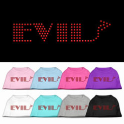 evil rhinestones dog t-shirt colors