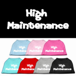 high maintenance dog t-shirt sleeveless multi-colors