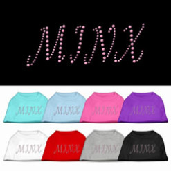 minx rhinestones dog t-shirt colors