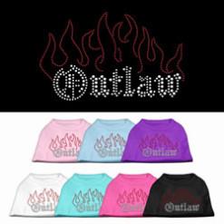 outlaw flames rhinestones dog t-shirt colors