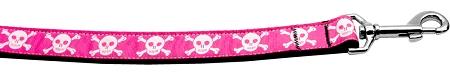 pink skull crossbones dog leash