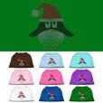 santa hat penguin rhinestones dog t-shirt colors