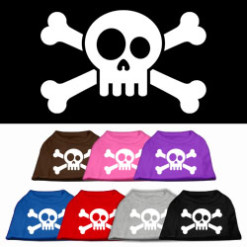 skull and crossbones screen print sleeveless shirt colors