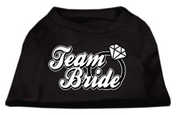 team bride wedding screen print sleeveless shirt black