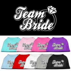 team bride wedding screen print sleeveless shirt colors
