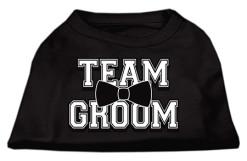 team groom wedding screen print sleeveless shirt black