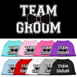 team groom wedding screen print sleeveless shirt colors