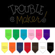 trouble maker rhinestone dog bandana