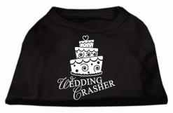 wedding crasher cake sleeveless dog t-shirt black