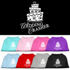 wedding crasher cake sleeveless dog t-shirt colors