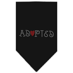 Adopted dog bandana black
