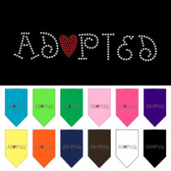 Adopted dog bandana colors