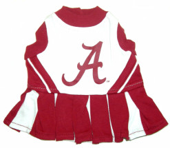 Alabama Crimson Tide Cheerleader dog outfit