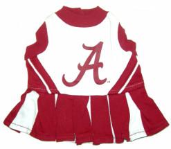 Alabama Crimson Tide Cheerleader dog outfit
