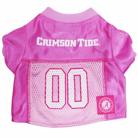 Alabama Crimson Tide Pink dog jersey