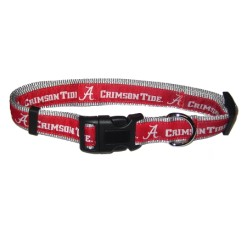 Alabama Crimson Tide adjustable dog collar