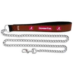 Alabama Crimson Tide football leather dog leash