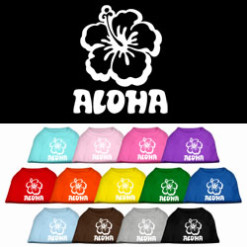Aloha colors dog t-shirt novelty