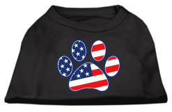 American Flag Dog Paw Screenprint t-shirt sleeveless dog black