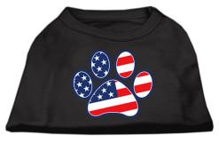 American Flag Dog Paw Screenprint t-shirt sleeveless dog black