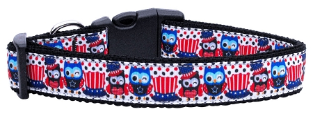 American Owls Fourth of July polka dot top hats dog collar