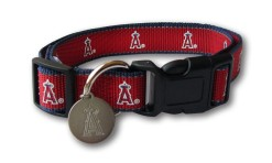 Anaheim Angels Dog Collar with ID Tag
