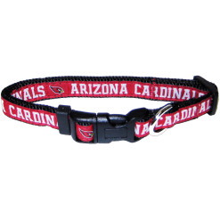 Arizona Cardinals NFL nylon adjustable dog collar