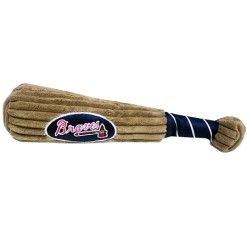 Atlanta Braves MLB baseball dog toy bat