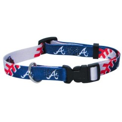 Atlanta Braves adjustable dog collar
