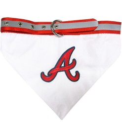 Atlanta Braves adjustable dog collar and bandana
