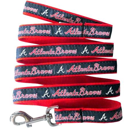 Atlanta Braves nylon dog leash MLB
