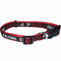 Atlanta Falcons NFL nylon dog collar