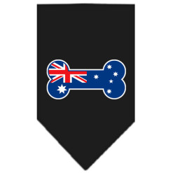 Australia bone flag dog bandana black