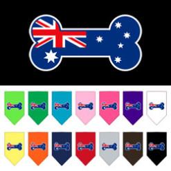 Australia bone flag dog bandanas