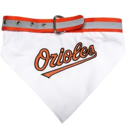 Baltimore Orioles baseball dog bandana and collar
